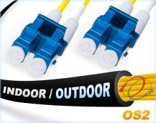 OS2 LC LC In/Outdoor Duplex Fiber Patch Cable 9/125 Singlemode