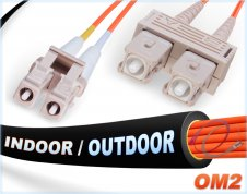 OM2 LC-SC Indoor/Outdoor 50/125 Multimode DX Fiber Cable