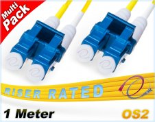 Multi-Pack 1M OS2 LC LC Fiber Patch Cables 9/125 Duplex Singlemode
