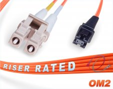MTRJ-LC OM2 50/125 Multimode Duplex Fiber Optic Patch Cable